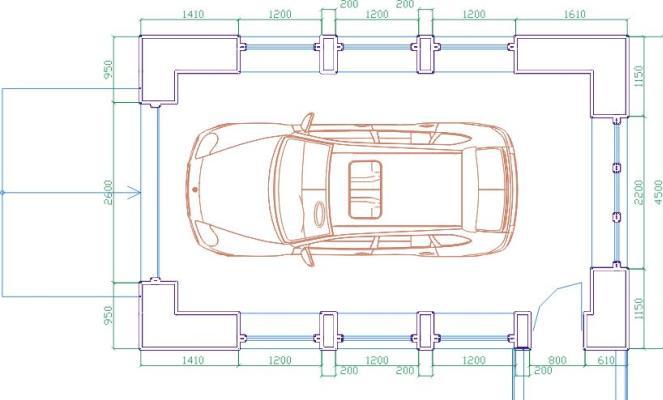 Размер гаража на 1 авто
