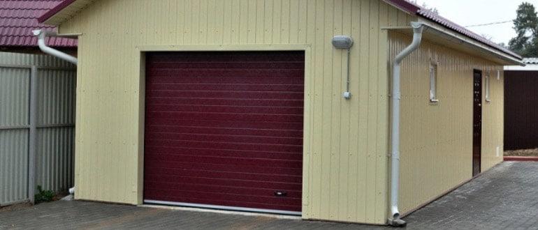 Габариты гаража на одно авто