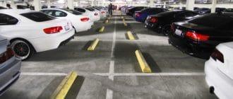 Размер места для парковки автомобиля