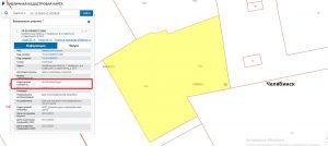 Отображение кадастровой стоимости земельного участка на карте