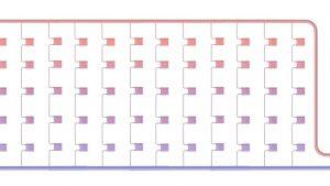 Схема верхнего розлива теплоносителя