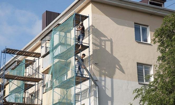 Проведение капремонта фасада дома