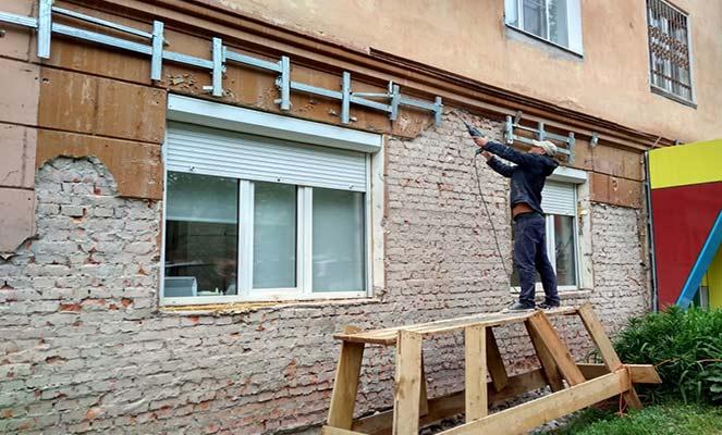 Необходим капремонт фасада дома