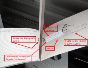 Элементы прошивки домовой книги