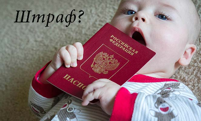 Штрвф за отсутствие регистрации ребенка