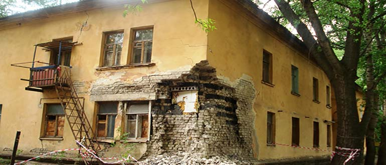 Дом в аварийном состоянии