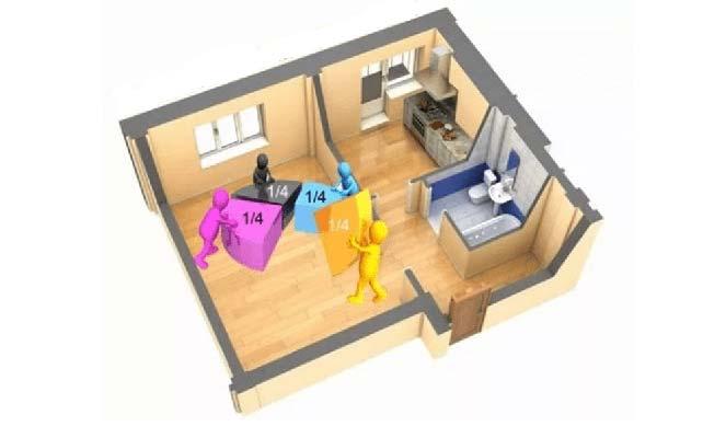 Раздел имущества при общедолевой собственности