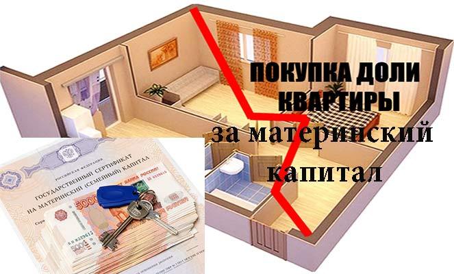 Покупка доли квартиры за материнский капитал